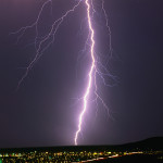 Lightning Bolt Strikes City