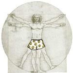 da Vinci's Vitruvian Man: Circa 1490