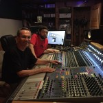 Skip at the board with Fame engineer, Spencer Coats